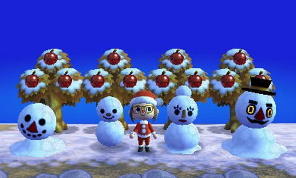 どうぶつの森:【住民紹介】ゆきだるまファミリー:雪玉で出現するユキダルマの家族