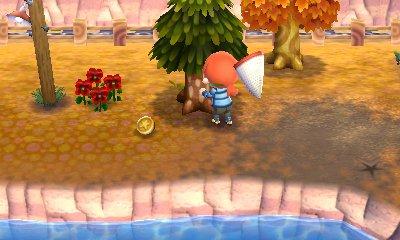 とび森:【アップデート】道具を持ったままでも木をゆすれるようになったよ!
