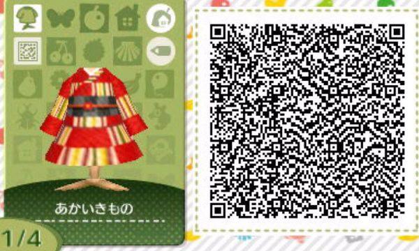どうぶつの森:和風な着物のマイデザインQRコードまとめ(晴れ着・帯)