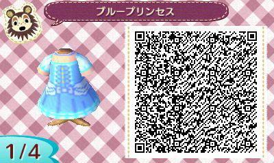 とび森:【マイデザイン】ディズニープリンセスのドレスまとめ【QRコードつき】