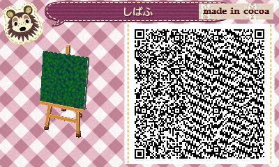 どうぶつの森:【QRコード】可愛い芝生地面のマイデザイン(草・お花畑・ポケモン)