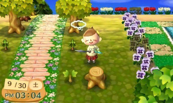 どうぶつの森:レア切り株集めてる?銀のオノで切るといろんな模様がでるよ!