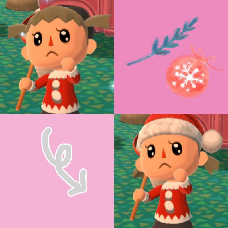 クリスマス帽子をかぶったときの髪型:ポケ森攻略ch
