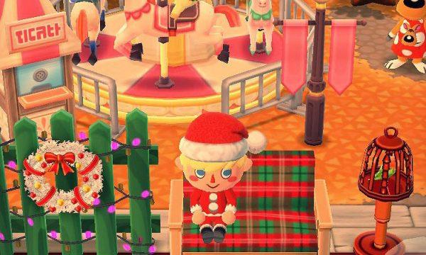 ポケ森:【おすすめキャンプ場】クリスマス×メリーゴーランドが可愛いぞー!!【レイアウト】